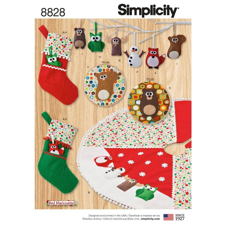 Simplicity Pattern 8828 Animal Holiday Decor