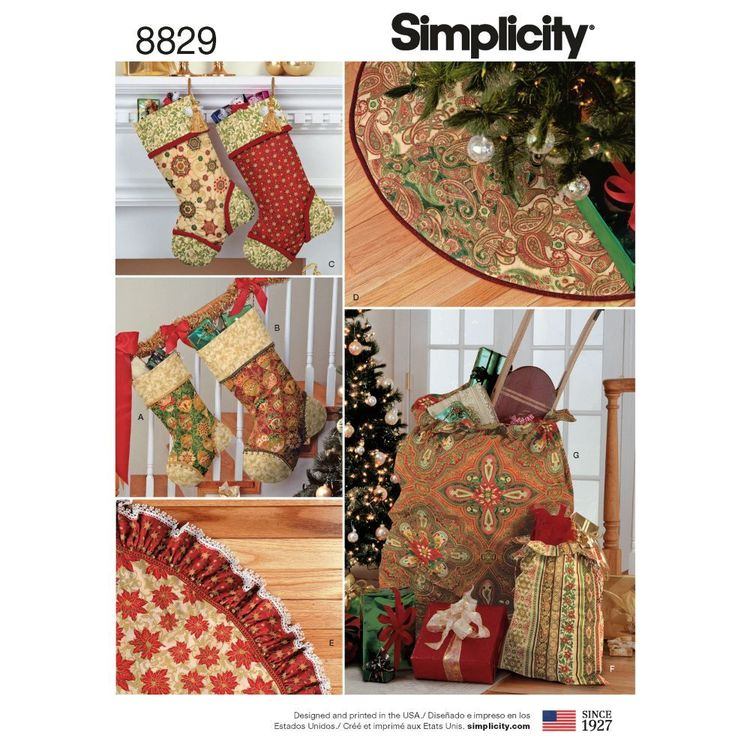 Simplicity Pattern 8829 Classic Holiday DEcor