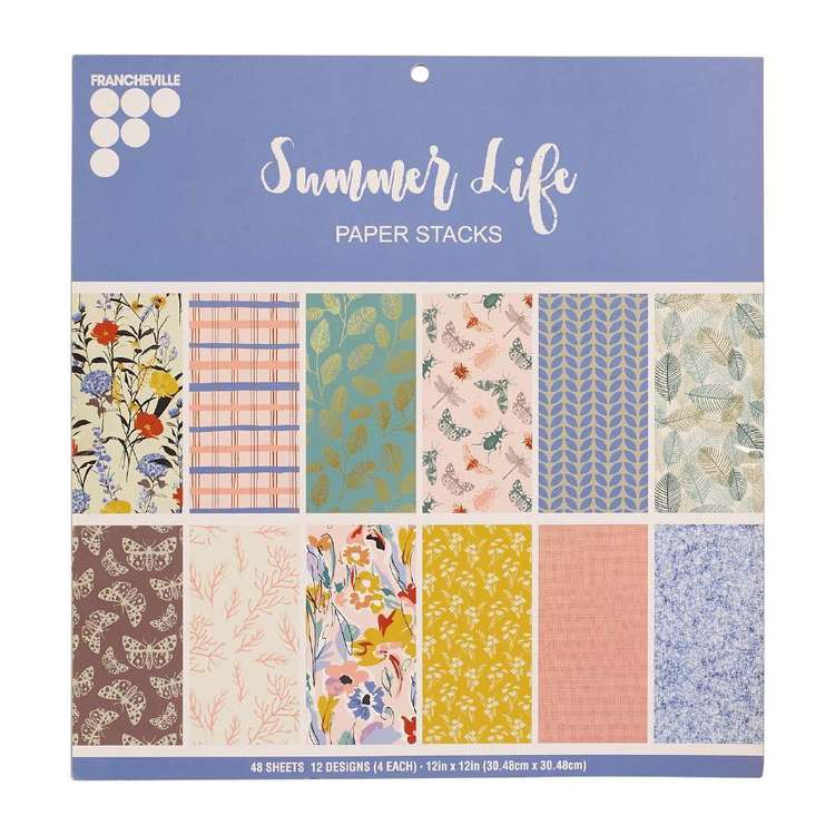 Francheville Summer Life 12 x 12 in Paper Pad Multicoloured 12 x 12 in