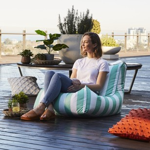 Living Space Outdoor Stripe Bean Bag Cover