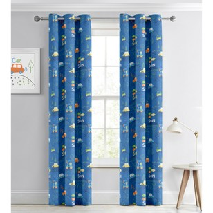 KOO Happy Cars Blockout Eyelet Curtains