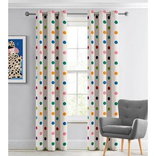 KOO Happy Spots Blockout Eyelet Curtains