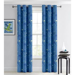 KOO Happy Dino Blockout Eyelet Curtains