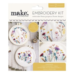 Make Summer Life Home Embroidery Kit