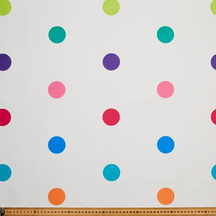 Happy Spots Blockout Kids Curtain Fabric Multicoloured 145 cm