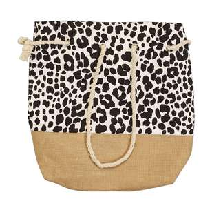 KOO Safia Hessian Beach Bag