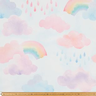 Happy Rainbow Blockout Kids Curtain Fabric