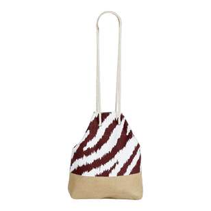 KOO Zebu Hessian Beach Bag