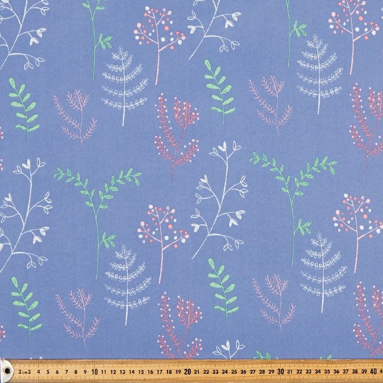 Happy Woods Flora Blockout Kids Curtain Fabric