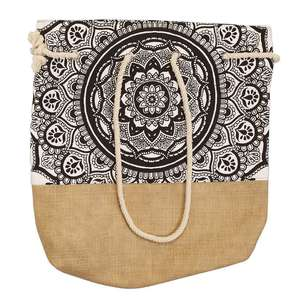 KOO Zephyr Hessian Beach Bag