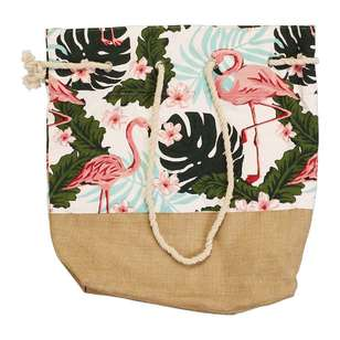 KOO Florida Hessian Beach Bag