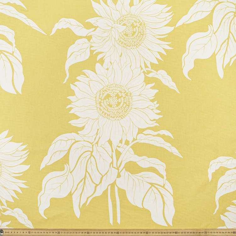 Summerlife Sunflower Canvas Fabric Gold 145 cm