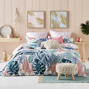 Ombre Home California Dreams Tropicana Quilt Cover Set