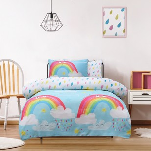 Ombre Blu Rainbow Quilt Cover Set