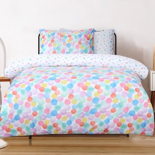 Ombre Blu Balloons Quilt Cover Set