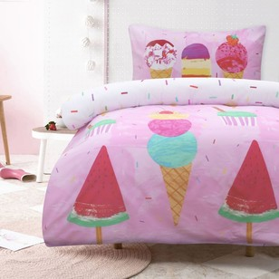 Kids House Rainbow Ice Cream Quilt Cover Set