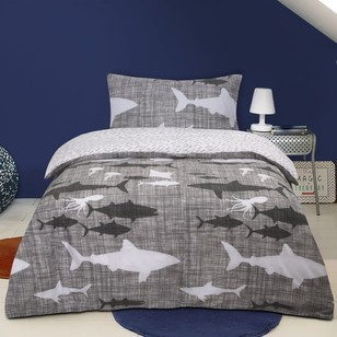 Kids House Shadow Sharks Quilt Cover Set