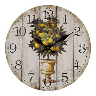 Cooper & Co European Holiday Oranges Wall Clock