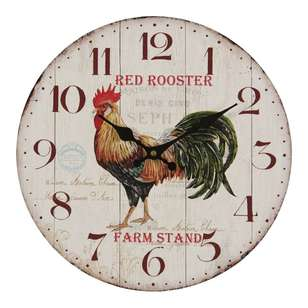 Cooper & Co Rooster Wall Clock