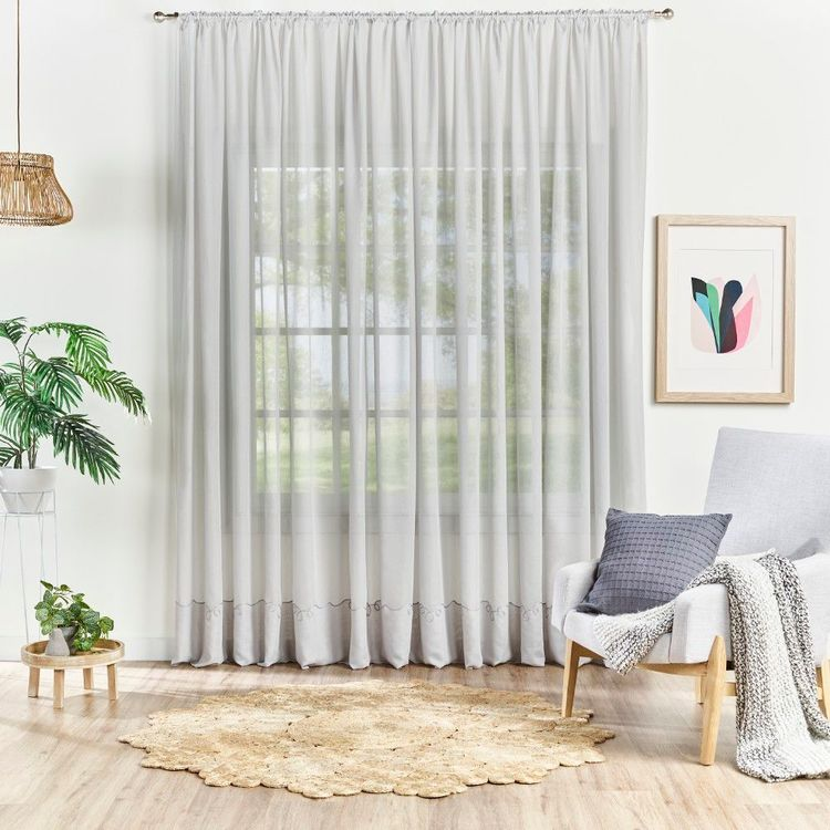 Empire Connelli Rod Pocket Sheer Curtain Fabric