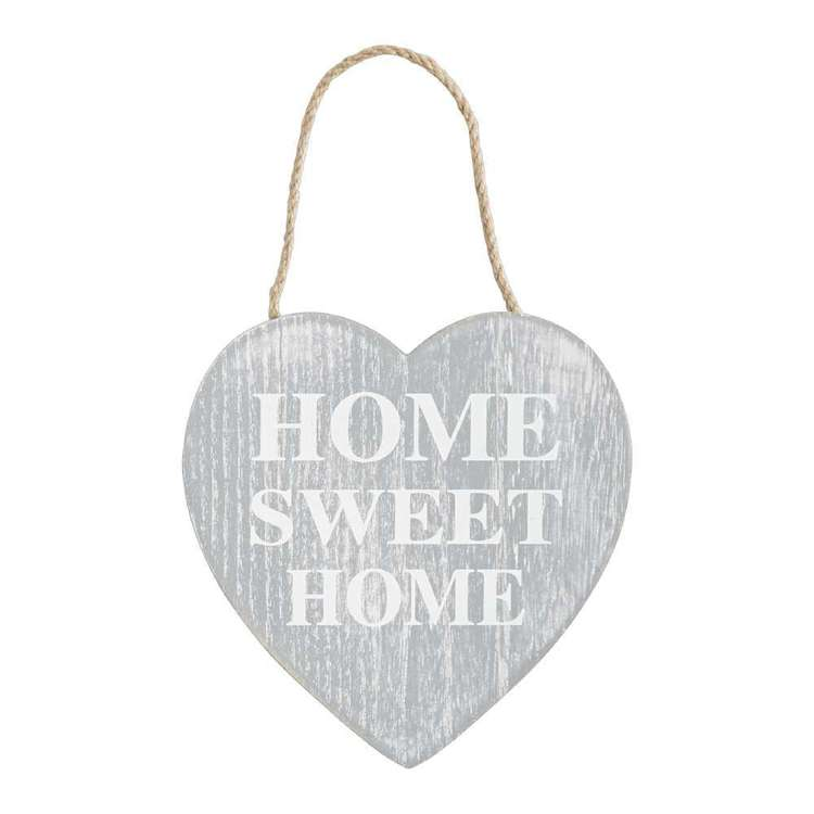 Living Space Sweet Home Wall Plaque Grey 14.5 x 15.5 cm