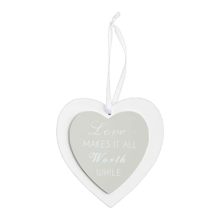 Living Space Heart Love Wall Plaque