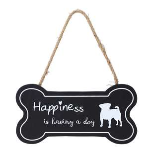 Living Space Dog Bone Wall Plaque