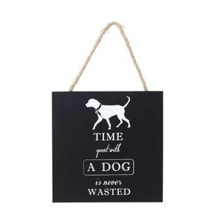 Living Space Dog House Wall Plaque