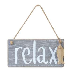 Living Space Relax Wall Plaque