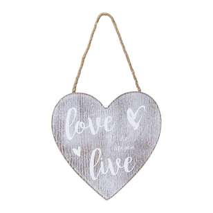 Living Space Love Life Wall Plaque