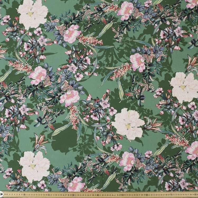 Oriental Girl Printed Rayon Fabric