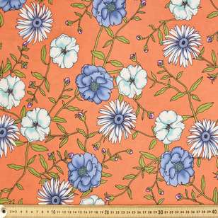 Forget Me Not Printed Rayon Fabric