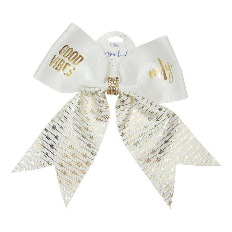 Good Vibes Only Cheer Hair Bow