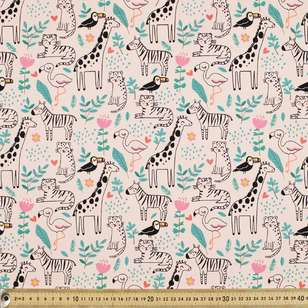 Sleepy Jungle Printed Cotton Poplin Fabric
