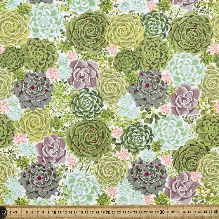 Succulent Printed Buzoku Cotton Duck Fabric