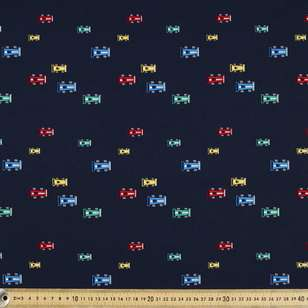 Formula 1 Printed Cotton Poplin Fabric