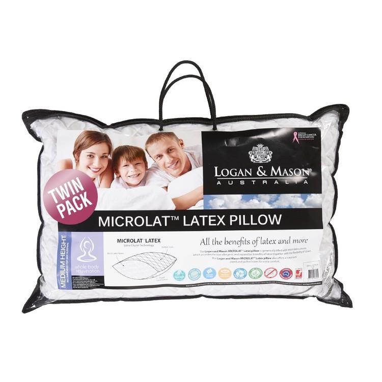 Logan & Mason Microlat Latex Pillow 2 Pack