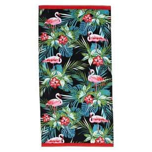 Logan & Mason Flamingo Beach Towel