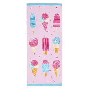 Logan & Mason Ice Cream Sundae Beach Towel