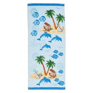 Logan & Mason Moreton Blue Beach Towel
