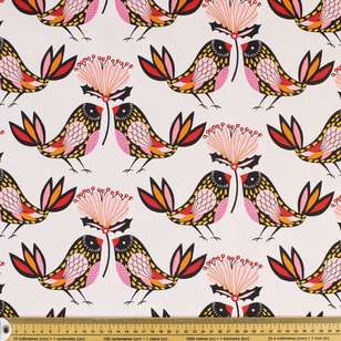 Kirsten Katz Blush Birds Curtain Fabric