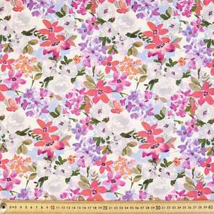 Flower Shop Printed Cotton Linen Fabric