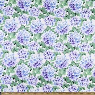 Hydrangea Printed Cotton Sateen Fabric