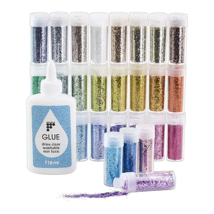 Francheville 36 Pack Glitter With Glue Set