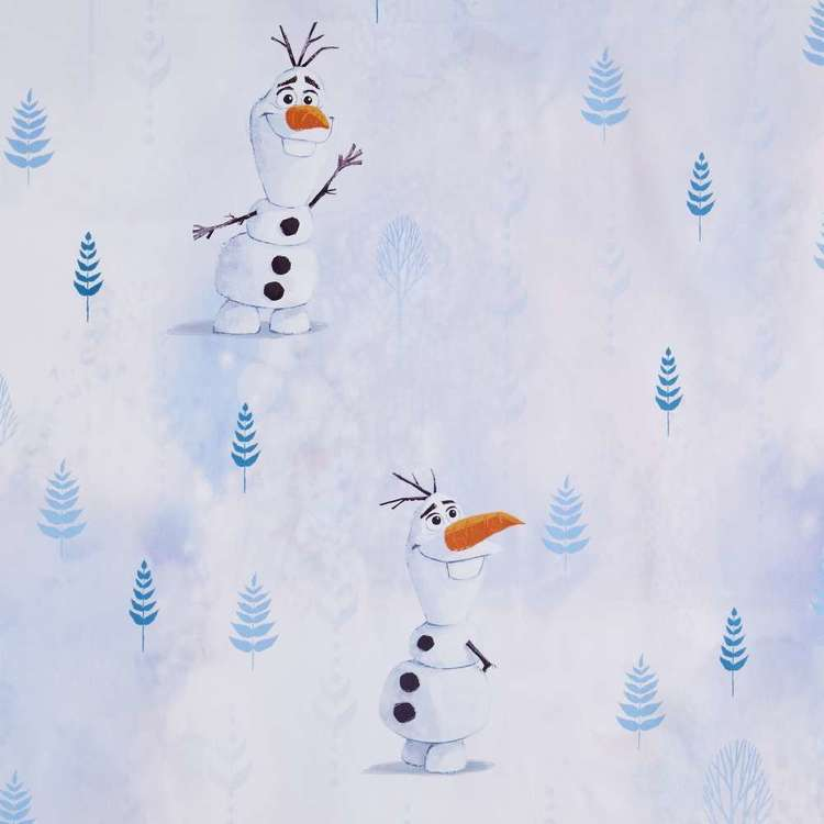 Frozen Forest Kids Decorator Fabric Blue & White 150 cm