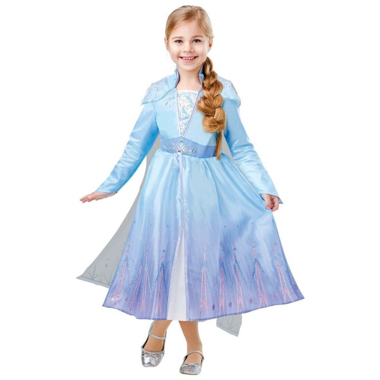 Disney Frozen 2 Elsa Deluxe Kids Costume Multicoloured