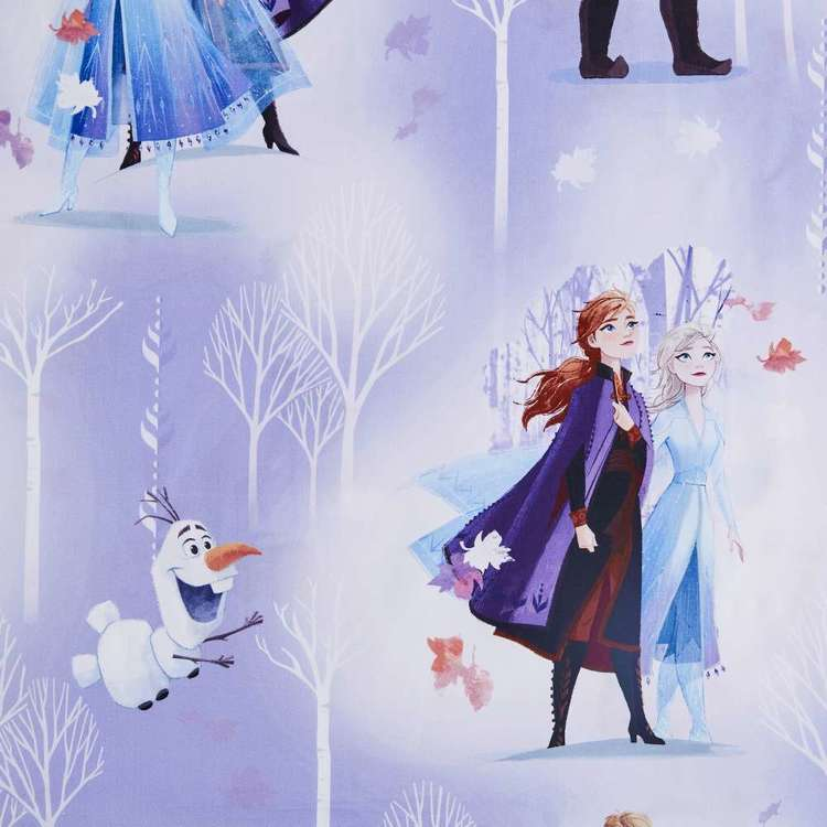 Frozen Winter Scene Kids Decorator Fabric