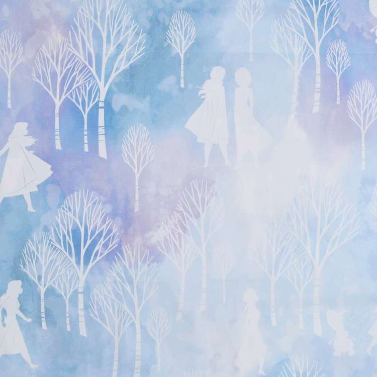 Frozen Winter Silhouette Kids Decorator Fabric Lilac 150 cm