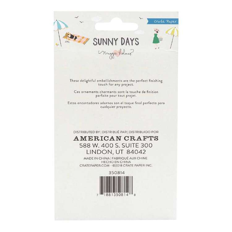 American Crafts Maggie Holmes Sunnydays Metal Clips Multicoloured