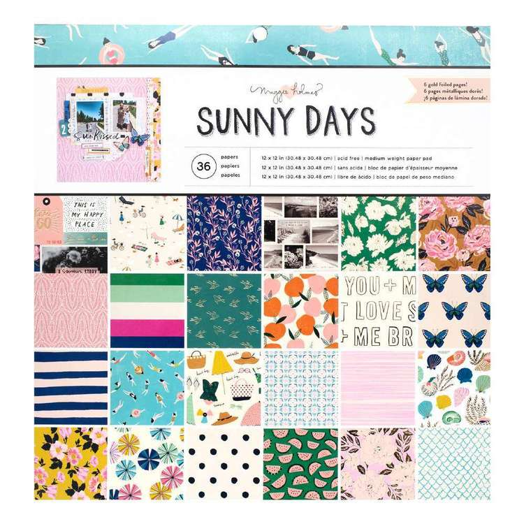 American Crafts Maggie Holmes Sunnydays 12 x 12 in Paper Pad